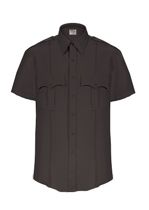 Elbeco TexTrop2 Mens Short Sleeve Shirt- Black