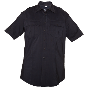 Elbeco Reflex Men's Short Sleeve Shirt- Black