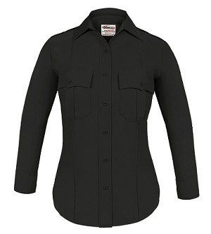 Elbeco TexTrop2 Womens Long Sleeve Shirt - Black